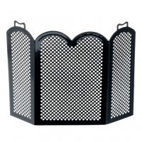 Dollhouse Arched Fire Screen - Black - Product Image