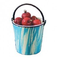 Dollhouse Apples In Pail - Product Image