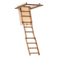 Dollhouse Attic Stairs with Treads - Product Image