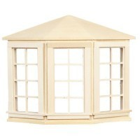 Dollhouse 4 over 4 Bay Window(Non Opening) - Product Image