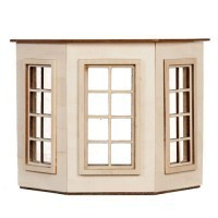 Dollhouse Flat Top (4 over 4)Bay Window - Product Image