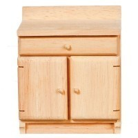 (*) Dollhouse Unfinished Kitchen Cabinet - Product Image