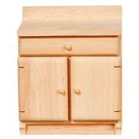 (*) Dollhouse Unfinished Kitchen Cabinet - Product Image