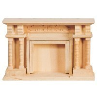 Dollhouse Unfinished Victorian Fireplace - Product Image