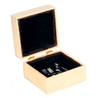 Dollhouse Silverware Chest - Product Image