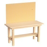 (*) Dollhouse Unfinished Workbench (Empty) - Product Image