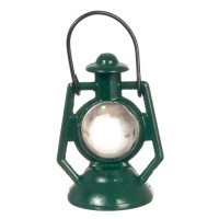 Dollhouse Green Non Working Lantern - Product Image