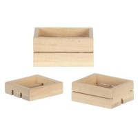 Dollhouse 3 pc. Wooden Crate Set - Product Image