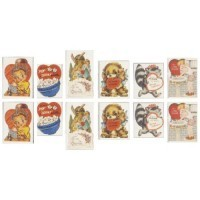 12 Dollhouse Valentine Cards - Product Image