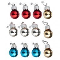 (*) 12 Assorted Christmas Ornaments - Product Image