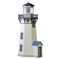 "Finished 1"" Scale Lighthouse Dollhouse - Product Image"