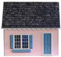 "Finished 1"" Scale Keeper's House Dollhouse - Product Image"