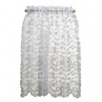Dollhouse Curtain Lace Panel White  - Product Image