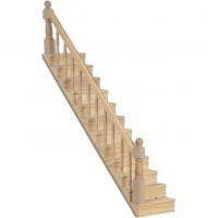 Dollhouse Straight Staircase - Unfinished - Product Image