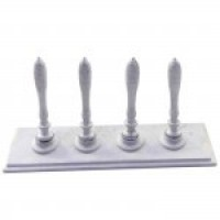 (*) Dollhouse Pewter Bar Taps - Product Image