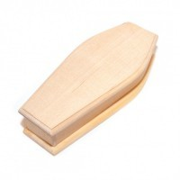 (*) Unfinished Dollhouse Lined Coffin - Product Image