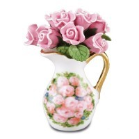 Dollhouse Rose Arrangement in Pitcher - Product Image
