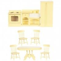 Dollhouse 8-Pc. Cream Kitchen Set - Product Image