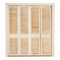 (*) Dollhouse Miniature Bi-fold Closet - Product Image