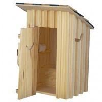 Dollhouse 2-Holer Outhouse - Product Image