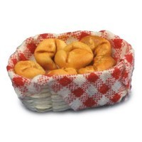 Dollhouse Croissants in a Basket - Product Image