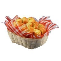 Dollhouse Basket of Garlic Bread - Product Image