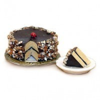 Dollhouse Chocolate Bavarian Torte with Slice - Product Image