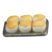 Dollhouse Cooked Biscuits or Cross buns in a Pan - Product Image