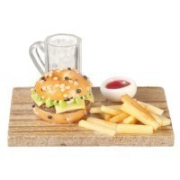 Burger, Fries & Drink Tray - Product Image