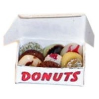 Dollhouse Filled Box of Doughnuts - Product Image