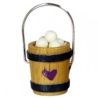 § Sale .60¢ Off - Wooden Bucket of Eggs - Product Image
