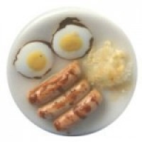 Dollhouse Sausage & Fried Eggs Breakfast - Product Image