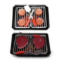 Dollhouse Burger or Steaks on a Hibachi - Product Image