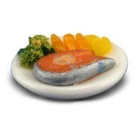 Dollhouse Individual Salmon Steak Dinner - Product Image