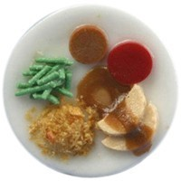 Sale $3 off - Dollhouse Individual Turkey Dinner - Product Image