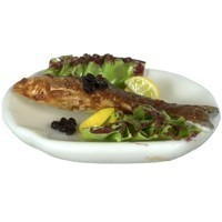 § Sale $1 Off - Dollhouse Broiled Fish Dinner Platter - Product Image