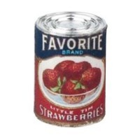 § Sale .60¢ Off - Dollhouse 1 lb. Can of Favorite Strawberries - Product Image