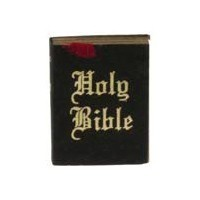 Dollhouse Miniature Holy Bible - Product Image