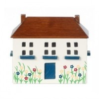 Painted Dollhouse Dollhouse - Product Image