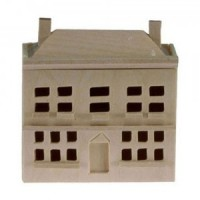 § Sale $1 Off - Unfinished Dollhouse Dollhouse - Product Image