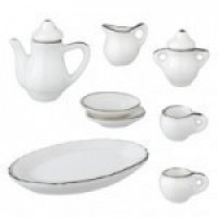 § Disc $3 Off - Dollhouse Bone China Tea Set - Product Image
