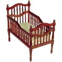 (*) Victorian Dollhouse Crib - Product Image