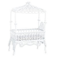 Dollhouse Faux Wicker Canopy Crib - Product Image