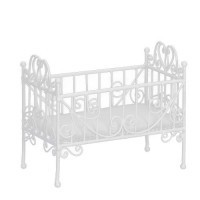 Dollhouse Faux Wicker Crib - Product Image