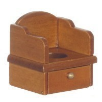 Dollhouse Wooden Potty Chair - Product Image