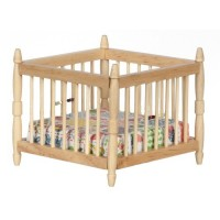 Dollhouse Playpen - Oak - Product Image