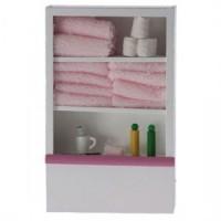 (*) Dollhouse Small Filled Bathroom Shelf - Product Image