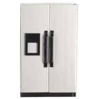 Dollhouse Stainless Steel Side by Side Refrigerator - Product Image