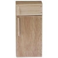 Dollhouse Oak 2 Door Refrigerator - Product Image
