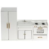 Dollhouse 3 Pc. White Kitchen Set - Product Image
